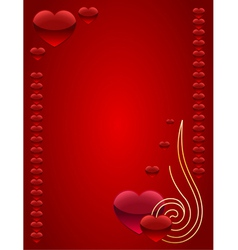 card for St Valentines day vector image