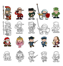 cartoon people set vector image