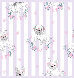 Character design pattern background of head vector
