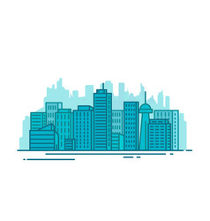 city with buildings vector image