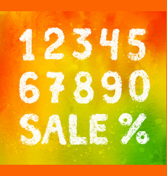 collection of sale word and numbers vector image