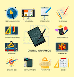 creativity icons imagination vector image