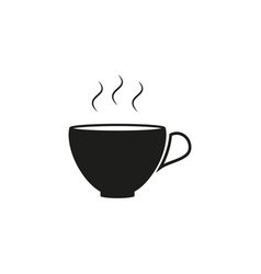 cup of warm or hot coffee black icon vector image