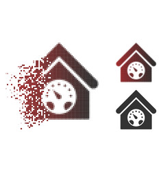 disappearing dot halftone meter building icon vector image
