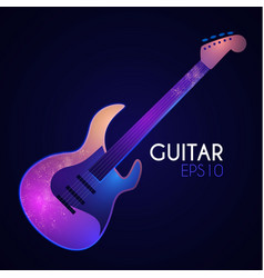 electric guitar music instrument with light vector image