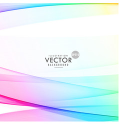 elegant colorful wave on white background for vector image