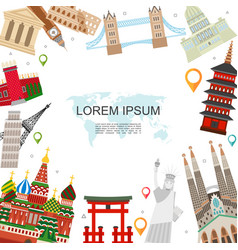 flat travel and tourism template vector image