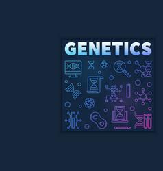 Genetics modern concept in vector