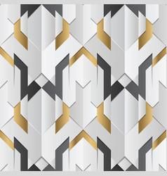 geometric decor stripes white and golden element vector image