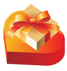 Gift and heart vector image