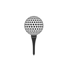 Golf ball on tee icon isolated flat design vector