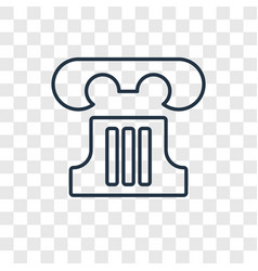 greek pillar concept linear icon isolated on vector image