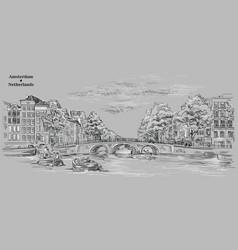 grey hand drawing holland 10 vector image