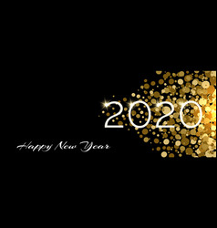 happy new 2020 year festive background vector image