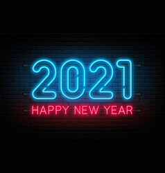 happy new year 2021 new year and christmas vector image