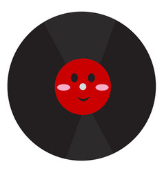 happy phonograph record on white background vector image