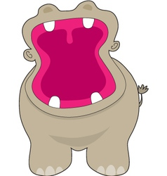Hippo big mouth vector