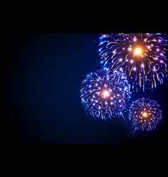 Holiday festival blue and gold firework vector