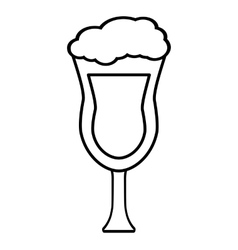ice cup beverage isolated icon vector image