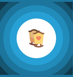 Isolated cot flat icon crib element can be vector