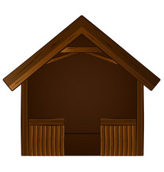 isolated wooden manger vector image
