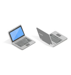 isometric set of laptop vector image