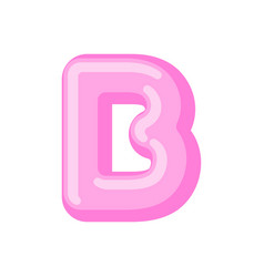 letter b candy font caramel alphabet lollipop vector image