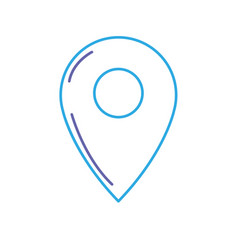 line symbol ubication to explore map location vector image
