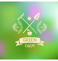 Logo green farm Logo organic food vector