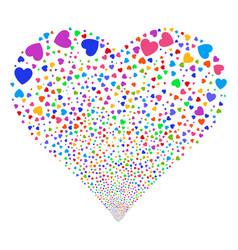 love heart fireworks heart vector image