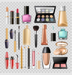 makeup cosmetics woman make-up skincare accessory vector image