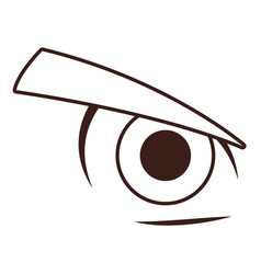 men eye cartoon in black and white vector image