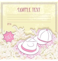 Message card with men hats vector