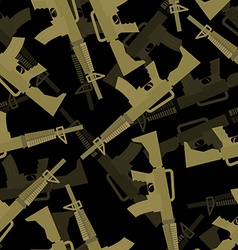 Military M16 rifle seamless pattern 3d background vector
