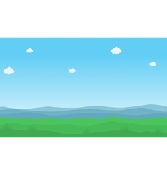 Nature background landcape vector