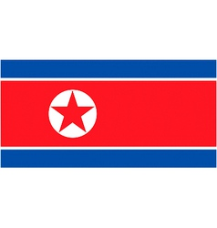 North korean flag vector