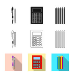 office and supply sign vector image