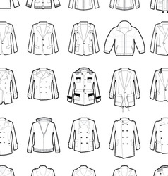 Outerwear design template 45 vector