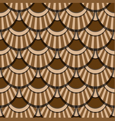 peacock tails coffee seamless patter vector image