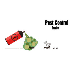 pest control service banner insect aerosol anti vector image