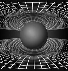 physics - anomalous black hole phenomenon warp vector image