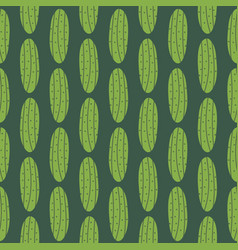 pickles cartoon seamless pattern background vector image