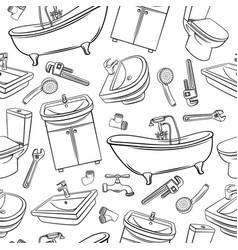 plumbing seamless pattern vector image