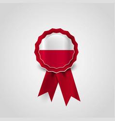 Poland flag ribbon banner badge vector