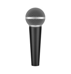 realistic 3d modern microphone with handle vector image