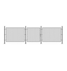 realistic detailed 3d metal fence wire mesh vector image