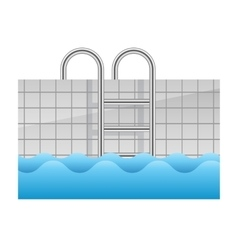 Realistic swimming pool icon vector