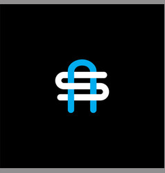 S a letter logo abstract design on black color vector