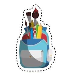School bag equipment icon vector
