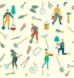 Seamless background with people engaged in vector